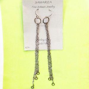 New Samariza dangle chain earrings